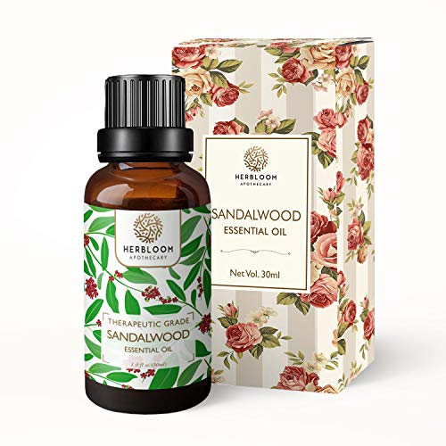 Herbloom Sandalwood Essential Oil, 30ML Organic (Sandalwood, 30ML)