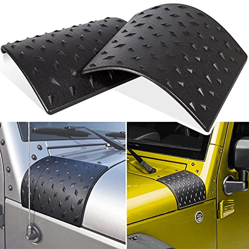 Danti Black Cowl Body Armor Outer Cowling Cover for Jeep Wrangler JK JKU Unlimited Rubicon Sahara X Off Road Sport 2007-2018(Pack of 2)