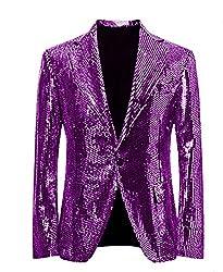 Grape/C Splendid Sequins Lapel Tuxedo Jacket