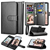 Takfox LG Stylo 5 Wallet Case, LG Stylo 5 Plus/Stylo 5 Case Wallet PU Leather with 9 Card Slots ID Credit Card Holder Folio Flip Magnetic Detachable Phone Case & Wrist Strap for LG Stylo 5-Black