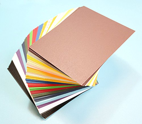 """Pack of 200 MIXED COLORS 4.5""""x6.5"""" UNCUT Mat Board / Matboard Blanks for Crafting"""