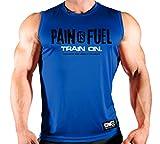 Monsta Clothing Co. Men Bodybuilding Workout (PainIsFuel) SLS (G:Roy.BL-A:WT/BK)