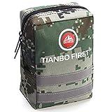 TIANBO FIRST Kit de Primeros Auxilios de 120 Piezas, Kit de Trauma táctico con Banda Reflectante, Ideal para Acampar, Supervivencia, Senderismo, Camuflaje de Rescate