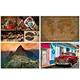 GREAT ART® 4er Set XXL Poster Motive – Südamerika –
