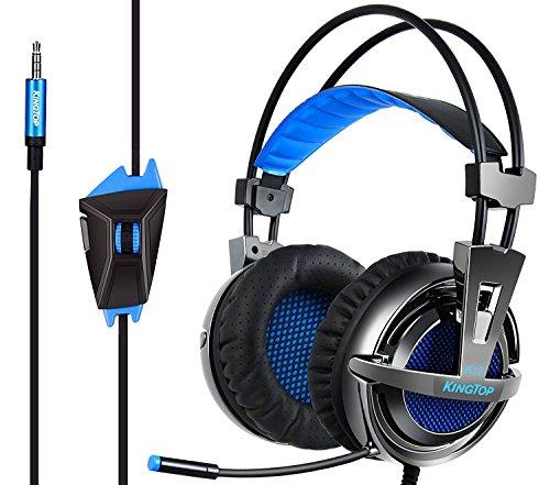 ゲーミングヘッドセット PS4 超軽量 KINGTOP K12 ゲーミングヘッドフォン 大音量 高音質 プレイステーショ...