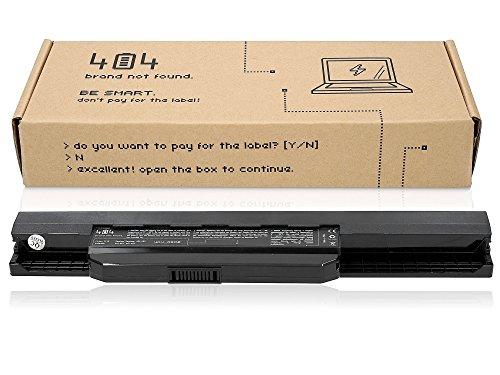 404brand Laptop Batería para ASUS A53S (10.8V, 4400mAh, Negro, 6celdas)