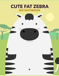 Cute Fat Zebra Big notebook