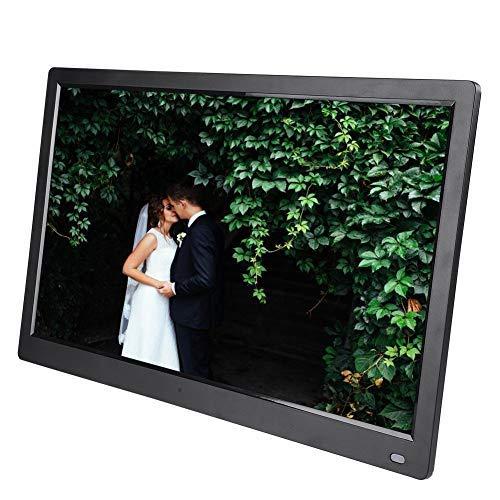Tonysa Digitaler Bilderrahmen 17,3 Zoll 1920 * 1080 HD großer hochauflösender Bildschirm Elektronischer Album Movie Player, Wecker Kalender, Unterstützt 32 GB SD Karte/Infrarot Fernbedienung(Schwarz)