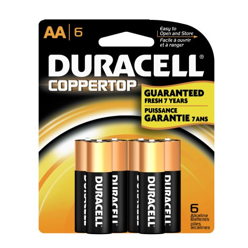 Duracell Coppertop AA Batteries - 6 Pack Alkaline Battery