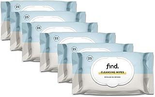 Marchio Amazon - find. Salviette detergenti infuse con Olio Micellare- 6x25 salviette (150 salviette)