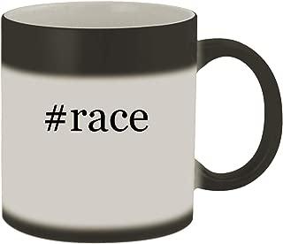 #race - Ceramic Hashtag Matte Black Color Changing Mug, Matte Black