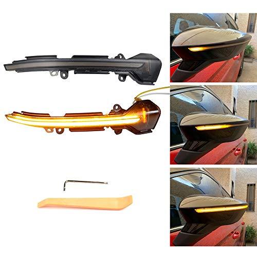 Links Rechts Spiegelblinker Dynamische LED Blinkerleuchten Blinker für Leon MK3 5F Ibiza MK5 Arona KJ7, mit E-Prüfzeichen