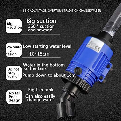 MC.PIG Aquarium Kiesreiniger - Elektrisches Wasser Aquarium Wasserpumpe Aquarium Wasserwechsler Leistungsstarker Saugfisch KOT Reiniger Pumpe Abnehmbar (Size : 10W)