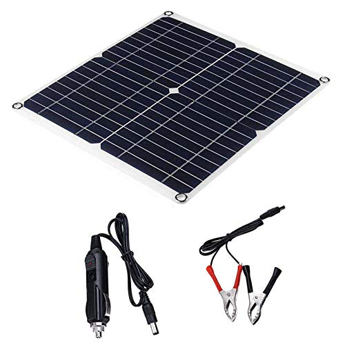 Wgwioo Panel Solar, Célula Solar De Energía Solar Flexible De 35 Vatios, Cargador De Energía Solar Resistente Al Polvo De Agua, para Barco, Cabina, Tienda, Coche, Camping