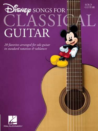 Disney Songs for Classical Guitar: Standard Notation & Tab (GUITARE)