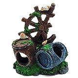 Gertok Decoracion de Acuarios Acuarios Accesorios Accesorios Decorativos para peceras Acuario Accesorios Decoración Acuario Adornos Grande Barrel 2