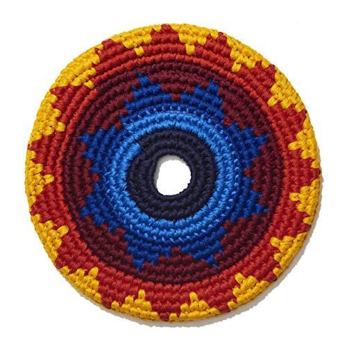 Pocket Disc Buena ONDA MayaFlya Mini Frisbee – kleine Häkel-Frisbee, Hundespielzeug oder als Geschenke für Kinder und Erwachsene, Indoor und Outdoor Spielzeug