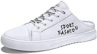 CAIFENG Zapatos atléticos para Hombres Zapatos de Media Zapatilla de Cordones Lace Up Style Malla Material de Tela Transpi...