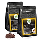 Cafe molido natural extra fuerte   Kupah Energy Booster   Cafe molido espresso 2 x 250 g   500g   Aumenta la Energía   Guarana y Ginseng   Tostado artesanal
