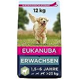 Eukanuba Hundefutter mit Lamm & Reis für große Rassen - Trockenfutter für ausgewachsene Hunde, 12 kg