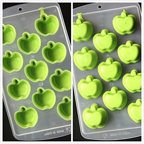 YQL Ice Mold,Ice Cube Tray (Green Apple)