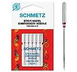 SCHMETZ Nähmaschinennadeln 5 Stick-Nadeln