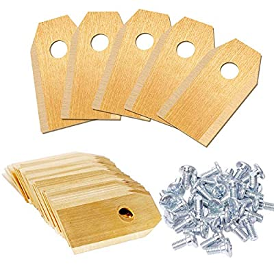 Swess Automower Blades, 30PCS 0.75mm Robotic Lawnmower Replacement Blades Compatible with All Models of Husqvarna Automower, Gardena, Yard Force