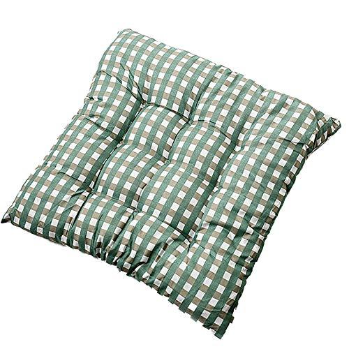 Cojín suave para silla, 100% algodón, relleno para decoración del hogar, cojines cuadrados, para cocina, comedor, a cuadros, decoraciones navideñas, 40 x 40 cm