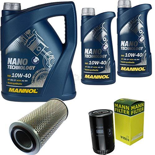 Mannol 7 L Nano Technology 10W-40 Aceite de motor + filtro para VW LT 28-35 I Bus 2.4 D