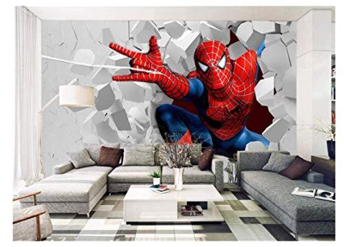 WallDiy enfants Photo papier peint Spiderman Mural pour la chambre des enfants chambre Tv fond étanche moderne décoration murale