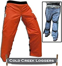 Cold Creek Loggers Chainsaw Apron Safety Chaps with Pocket (40