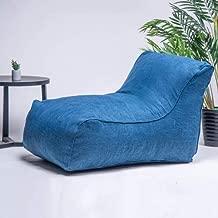 Home Foam Lounger Bean Bag Sofa Sack Chair Huge Memory Foam Furniture Bag for Kid and Adult - Big Sofa with Soft Microfiber Cover - Livingroom Playroom Bedroom - (Blue)
