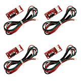 RLECS 4pcs 3D Printer Mechanical Endstop Ramps 1.4 Control Board Part Switch Accessories Limit Switch with 3 Pin 70cm Connecting Cable
