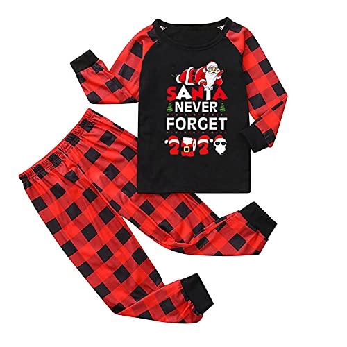 Conjunto de pijama de Navidad para hombre, diseño de Papá, Negro-niños, 3-4 años