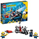 LEGO Minions Unstoppable Bike Chase (75549) Minions Toy Building Kit, with Bob, Stuart and Gru Minion Figures, Makes a Great Birthday Present for Minions Fans (136 Pieces)