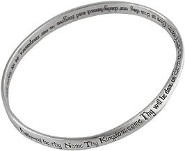 FashionJunkie4Life Sterling Silver The Lord`s Prayer Mobius Bangle Bracelet, Polished