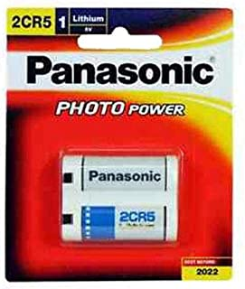 Panasonic 2CR5 Photo Lithium Battery (1 card of 2 Batteries)