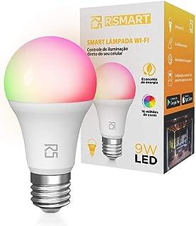 Smart Lâmpada Inteligente RSmart Wi-Fi LED 9W, Bivolt, Branco Frio e Quente e RGBW, Compatível com Alexa