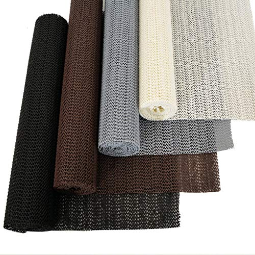 M&H-24 Antirutschmatte Schwarz Teppichunterlage Kofferraummatte Fußmatte Teppich Stop Teppichunterlegmatte Schubladenmatte zuschneidbar Schwarz, 5 Stück - 30cm x 150cm