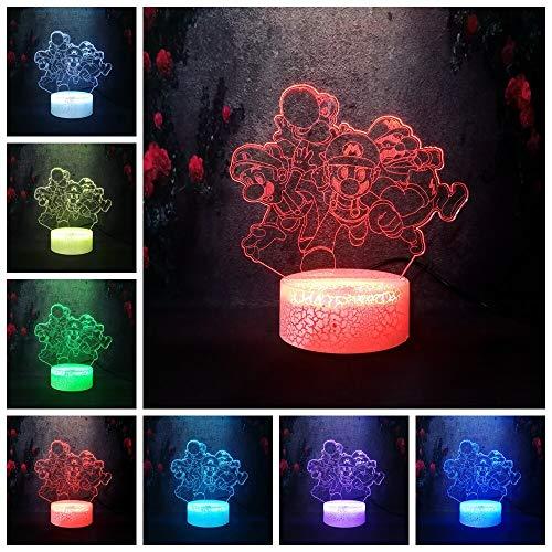 Luminous Creative Running Action Modellreihe 3D Tischlampe Kinder Spielzeug Geschenk Nachtlicht LED Farbe Fernbedienung Schreibtisch Lava Lampe