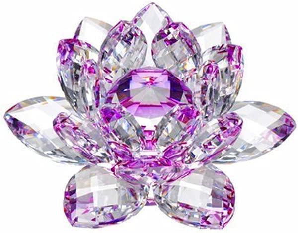 安隆水晶 CF10130 水晶莲花 3 英寸紫色