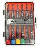 Lindy 43011 - Juego de destornilladores de precisión Phillips y Plano