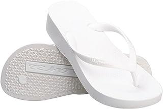 440d4ce5c3ac Hotmarzz Women s Fashion High Heel Stylish Platform Flip Flops Wedge Sandals  Summer Beach Slippers White