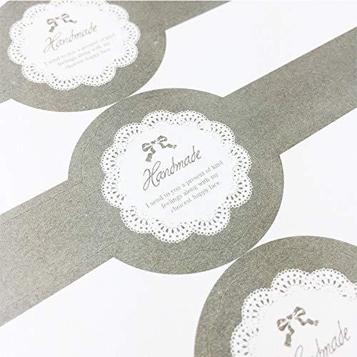 PMSMT 30 unids/Lote de Etiquetas Adhesivas de Sellado de Encaje Elegantes Vintage largas DIY Hechas a Mano para Caja de Regalos Tarro de Cristal Pegatina de Sellado para Hornear Pasteles