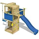 WICKEY Spielturm Smart Cube Kletterturm in modernem Design Spielhaus Holz Garten mit Schaukel,...