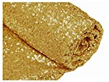 ShiDianYi 12 Feet 4 Yards Sequin Fabric, by The Yard, Sequin Fabric, Tablecloth, Linen, Sequin Tablecloth, Table Runner (Gold)