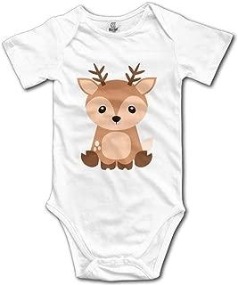 Cute Baby Woodland Forest Animals Bodysuit Baby Playsuit Union Suit Baby Short-Sleeve Bodysuit