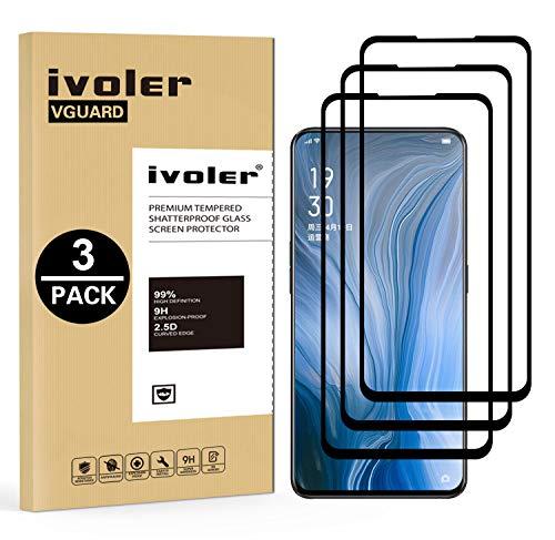 VGUARD [3 Pack] Pellicola Vetro Temperato per Oppo Reno, [Copertura Completa] Pellicola Protettiva Protezione per Schermo per Oppo Reno