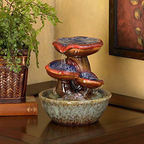 "Toadstool 9 1/4"" High Three Tier Tabletop Fountain"