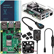 Vilros - Raspberry Pi 4 2GB Basic Kit - Includes Fan-Cooled Case, Power Supply with Switch, Heatsinks, HDMI Adapter, & Quickstart Guide